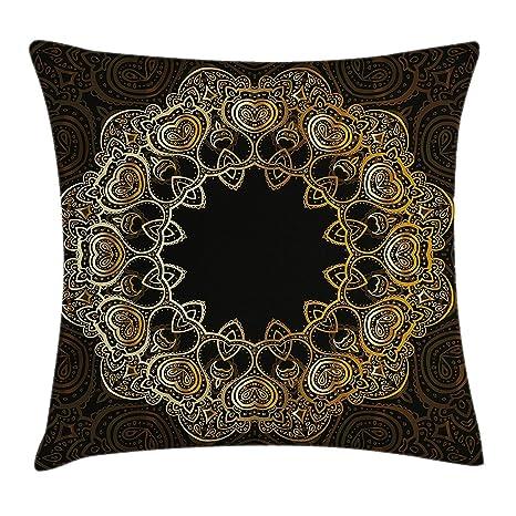 Funda de cojín con cojín Mandala, Mandala en forma de anillo ...