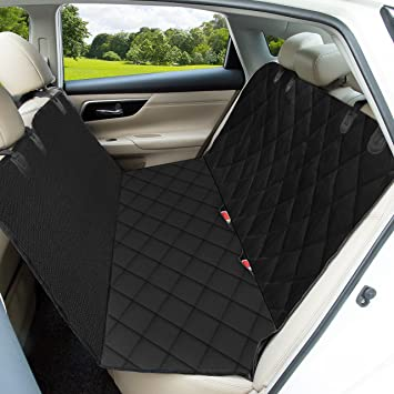 OMORC Dog Car Seat Cover, Heavy Duty & Waterproof Pet Seat Cover Dog