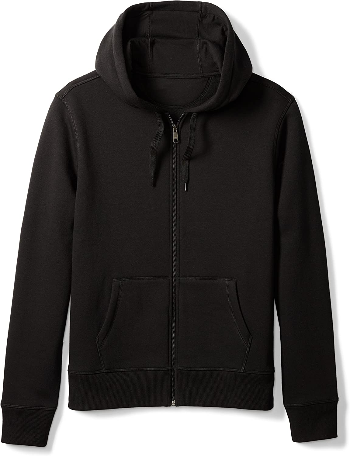 Essentials Men's Full-Zip Hooded Fleece Sweatshirt: Clothing