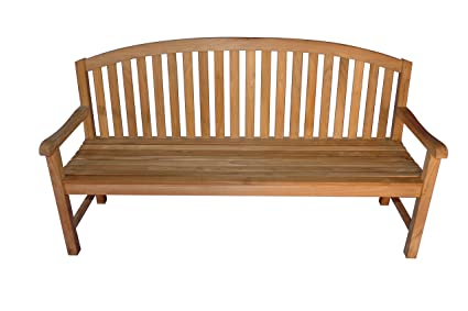 Remarkable Amazon Com Goldenteak Teak Round Top Aquinah Bench 6Ft Pabps2019 Chair Design Images Pabps2019Com