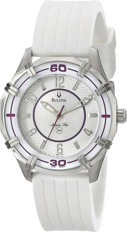Bulova Women s 96L144 Solano Marine Star Rubber Watch
