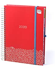 Boxclever Press Family Life Book 2019 Diary - 2020. Mid-Year A5 Academic Diary 2019-2020 Runs mid-August'19 Until December'20. Family Weekly Planner with 7 Columns to organise Family, Work or School.