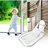 Sliding Door Lock, Baby Proof Closets, Window Locks for Children, Clear, 4 Pack
