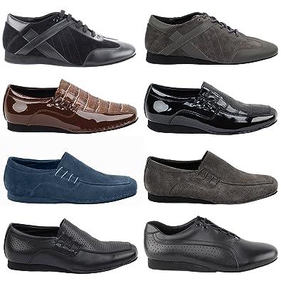 GP 50 Shades Mens Flat Dance Dress Shoes  SERO101BBX Black Leather afb3be04def6