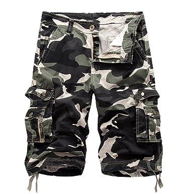 Keybur Relaxed Fit Outdoor Comouflage Camo Cargo Shorts Men (30 6ab9eb15a91