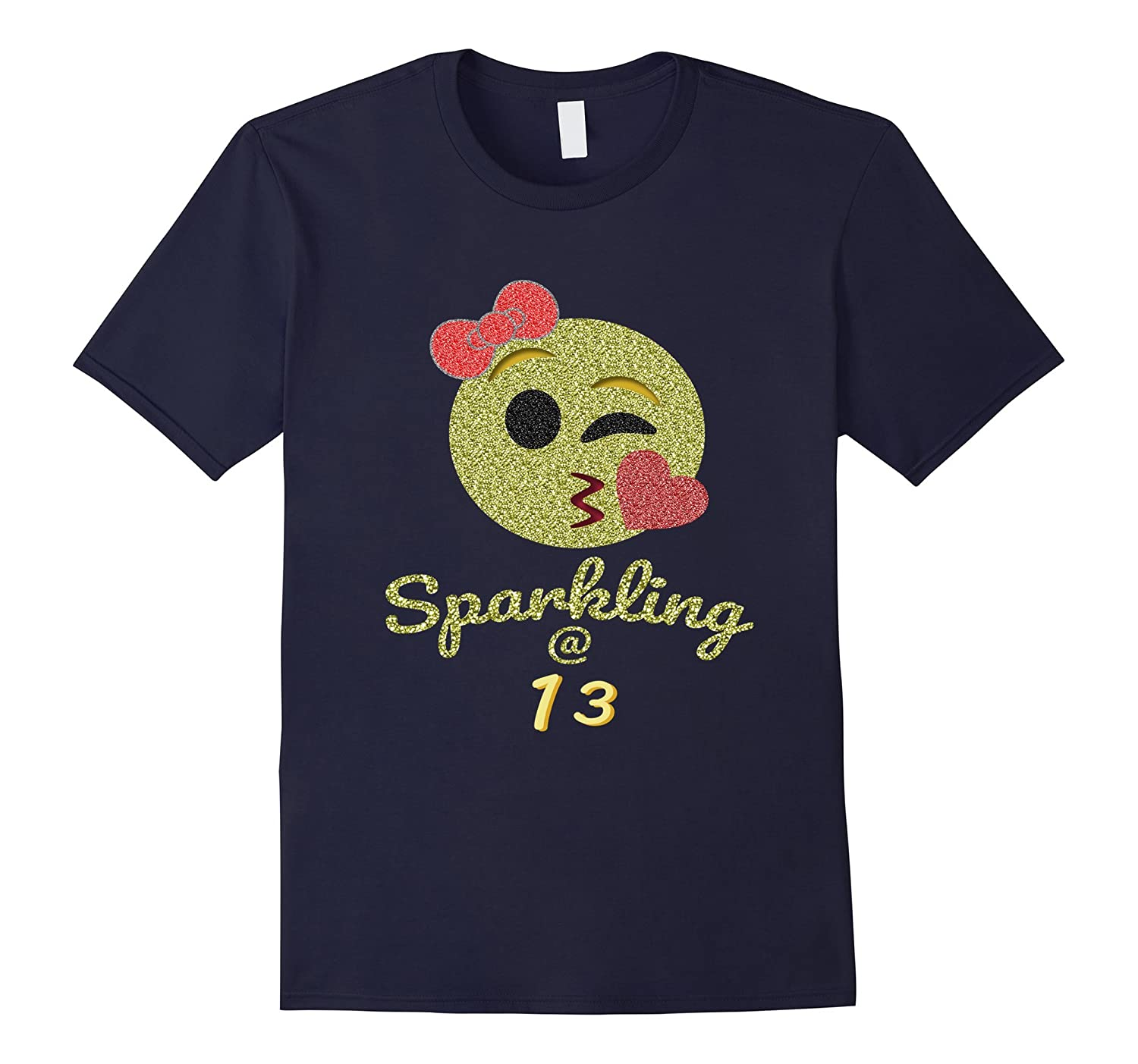 13 Year Old Birthday Shirt For Girls - Sparkling At 13th-CD