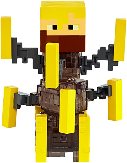 Amazon.com: Mattel Minecraft Light Up Blaze Figure: Toys & Games