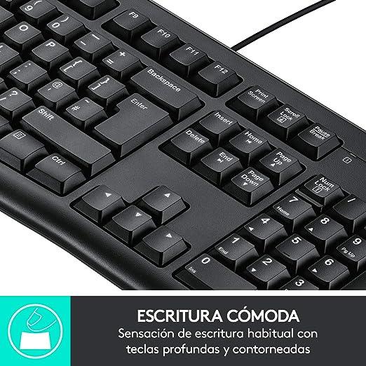 Logitech K120 Teclado con Cable para Windows, Disposición QWERTZ Suizo, Negro