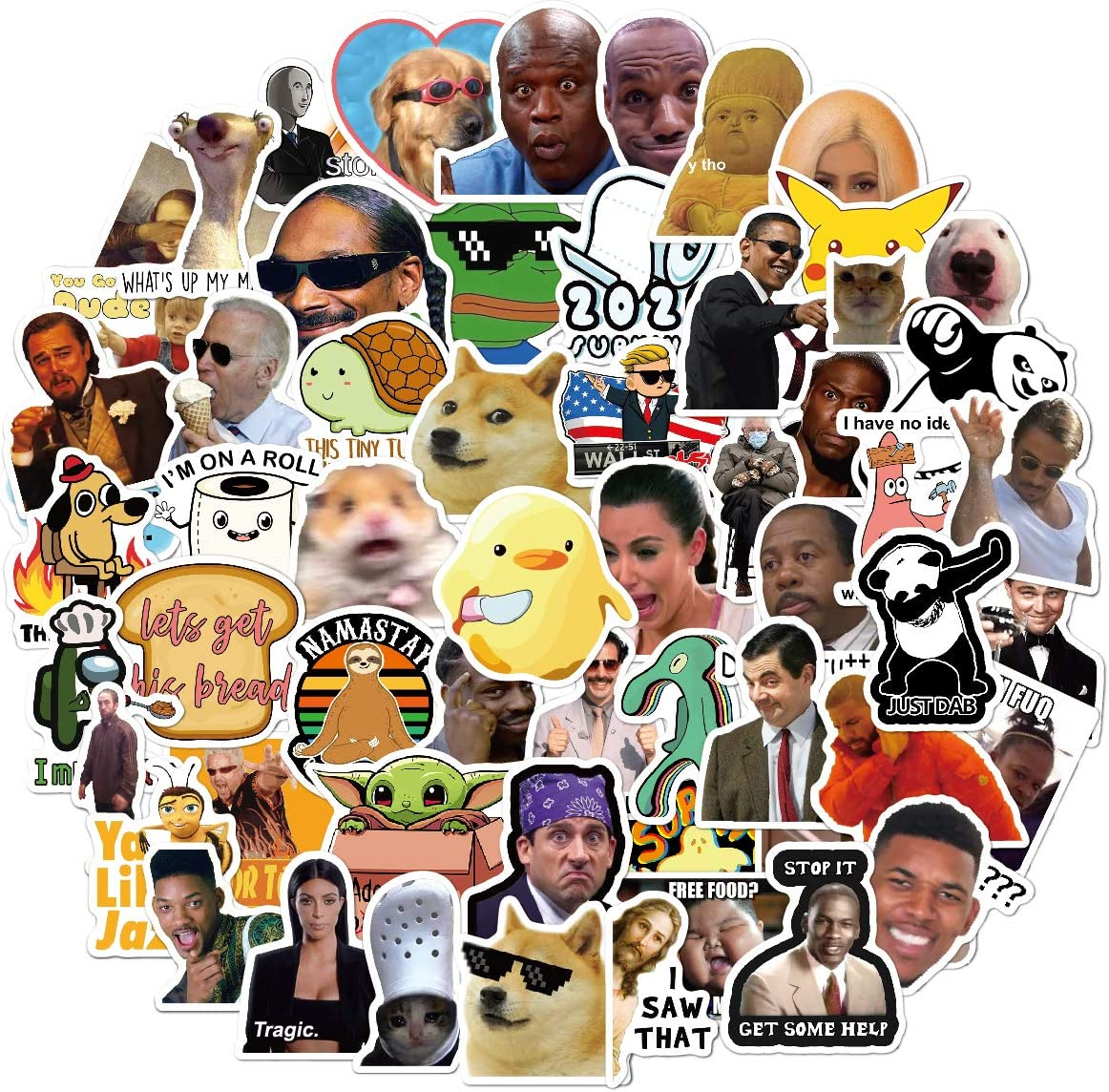 156pcs Funny Meme Vinyl Stickers Pack, Vine Stickers for Laptop, iPhone, Water Bottles, Computer, and Hydro Flask, DIY Decor for Bumper Wall (Meme)