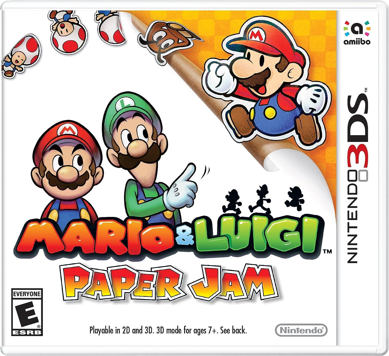Amazon Com Mario Luigi Paper Jam 3ds Digital Code Video Games