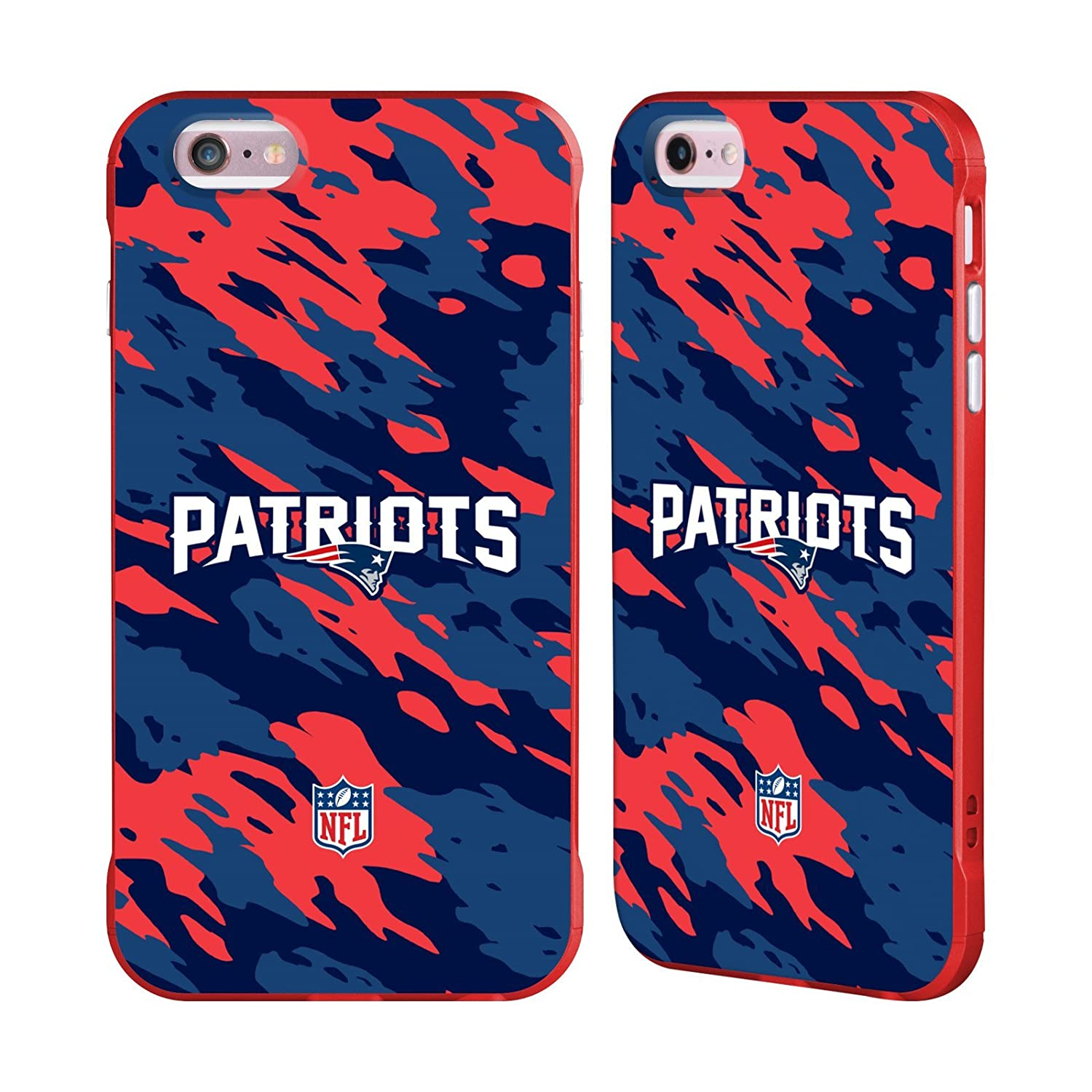 Ufficiale NFL Strisce New England Patriots Logo Rosso Fender Case per Apple iPhone 7/iPhone 8 Head Case Designs H6018-IPH7-NFLLOENG-STR