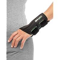 Mueller Green Fitted Wrist Brace for Left Hand, Black Small/Medium