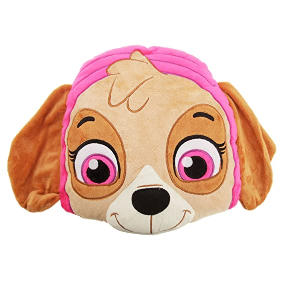 Paw Patrol Childrens/Kids Official Character Design Plush Cushion (One Size) (Skye)