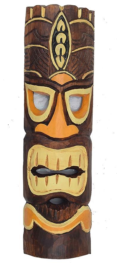 Tiki pared Máscara de madera en 50 cm en Tiki Hawaii Style ...