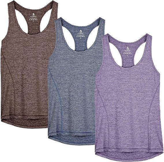 2er Pack icyzone Damen Workout Yoga Tank /ärmellos Shirt Strappy Sport Fitness Tank Tops