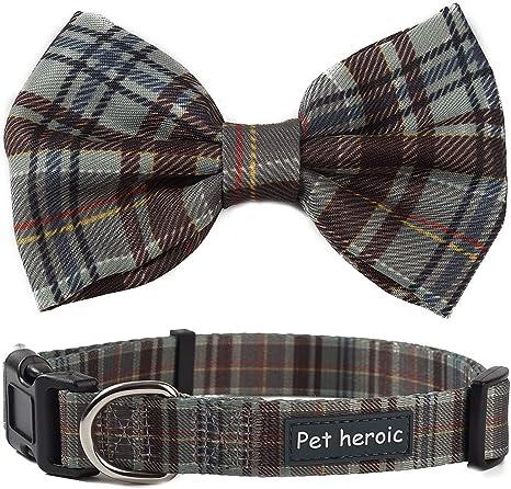 Collar Gato Perro Mascota con Pajarita de Cuadros, Collares de ...