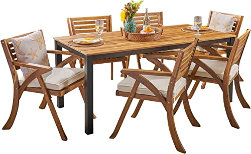 Christopher Knight Home Nora Outdoor 7 Piece Acacia Wood Dining Set