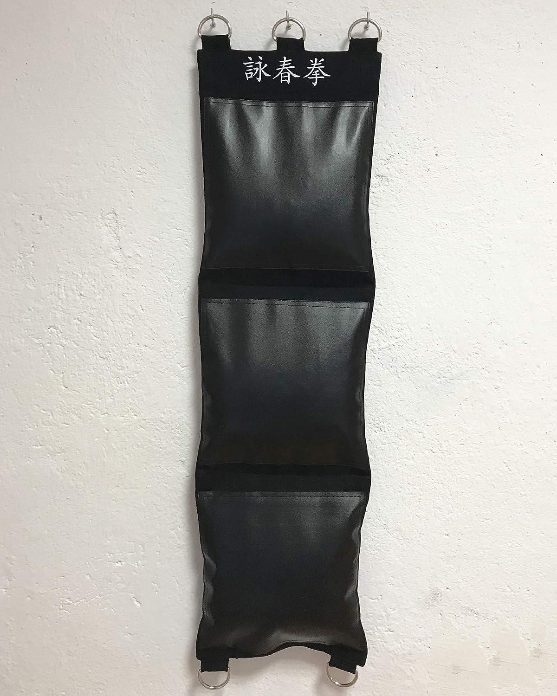 TAO Stanz-Wandtasche Wing Chun Wandtasche Canvas und PU-Leder Drei Abschnitte Ziel Treffer ungef/üllt