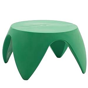"ECR4Kids Indoor/Outdoor Furniture 18"" Blossom Table, Dark Green"