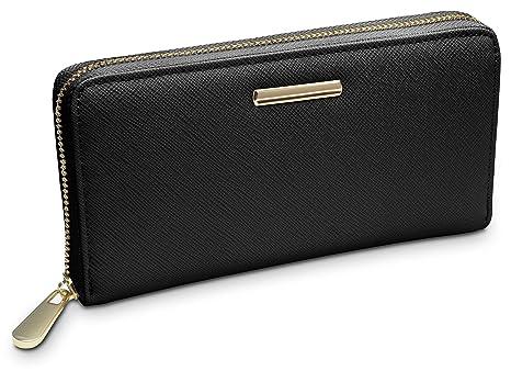 5dcb7f09bd TRAVANDO ® Portafoglio Donna con Protezione RFID | Portatessere Woman  Wallet Borsello Borsa Portafogli lungo Portamonete