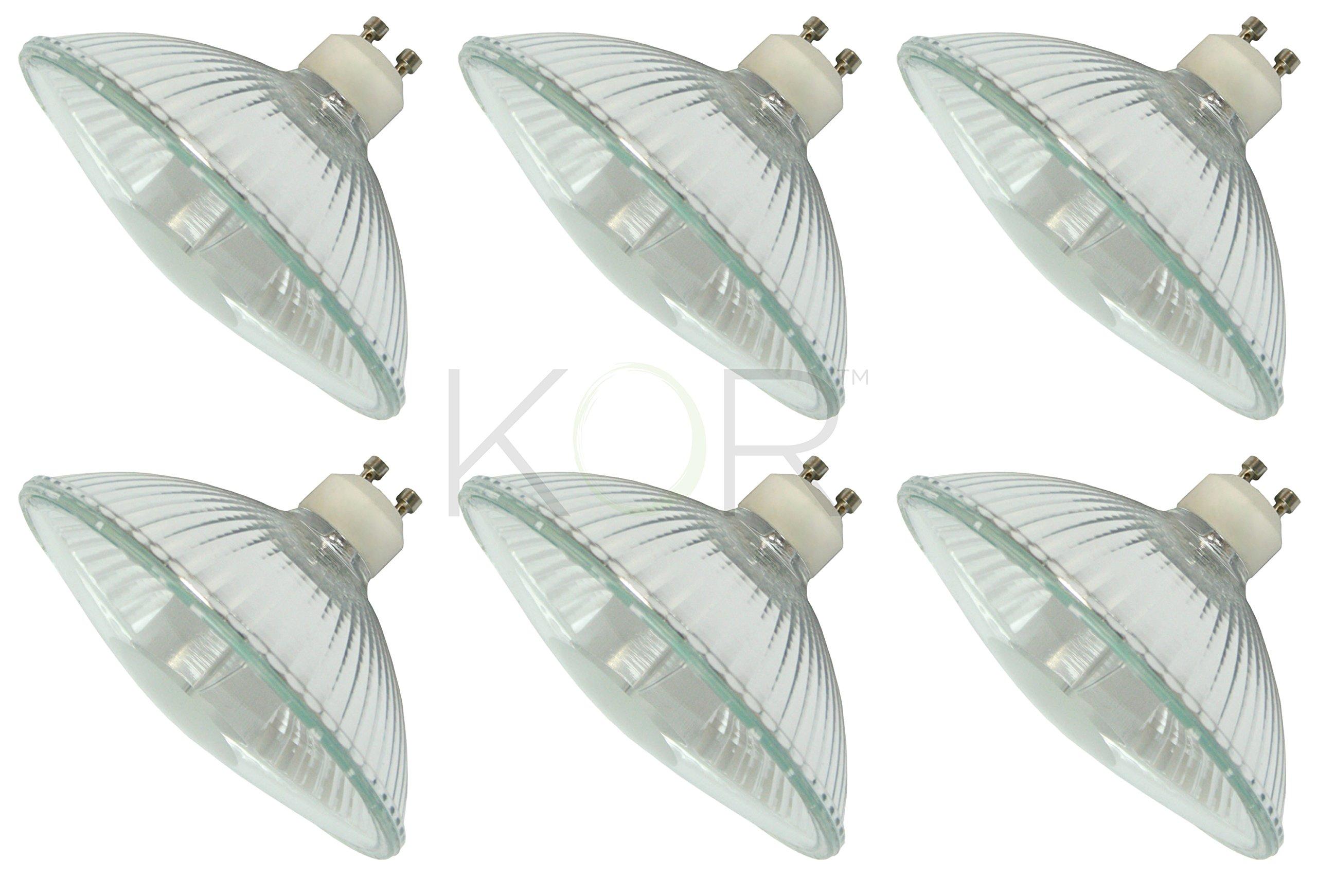 (Pack Of 6) 75R111/GU10/FL - 75-Watt Halogen R111 Reflector - GU10 Base (Twist & Lock) - 75W Flood Light Bulb
