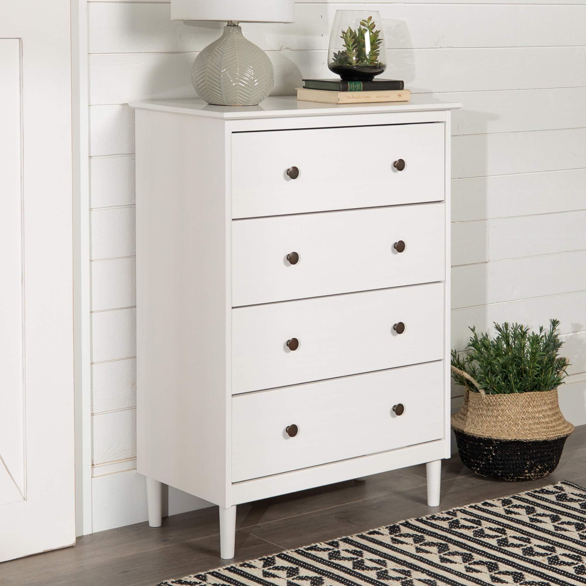 WE Furniture AZR4DDRWH Dresser, 30'', White
