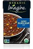 Imagine Organic Soup, Savory Black Bean, 17.3 oz. (Pack of 12)