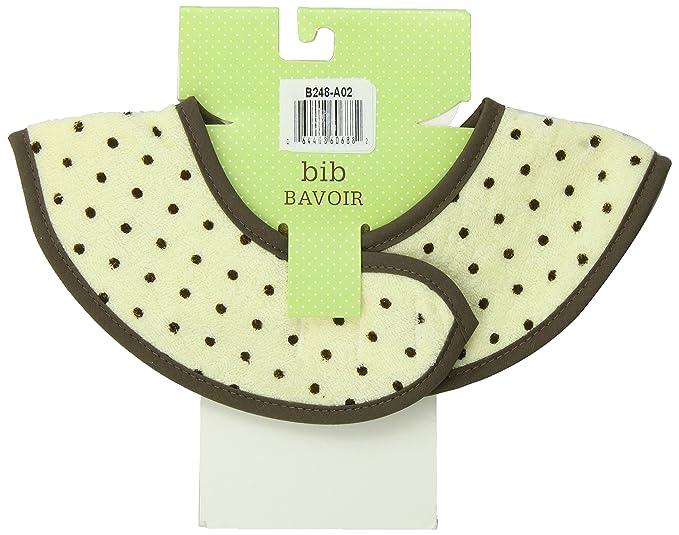 Yellow Dots Kushies Chin Bib Absorbent Terry Teething//Stay Dry Drool Bib Newborn