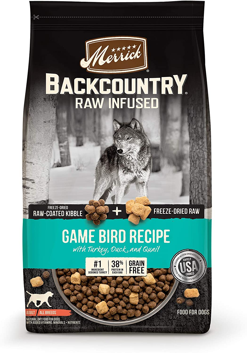 Merrick Backcountry Raw Infused Grain Free & with Healthy Grains Dry Dog Food
