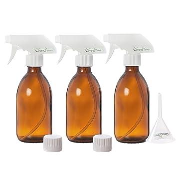 Nomara Organics Juego de botellas de cristal de 300 ml de alta calidad Un paquete de