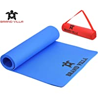 brandvilla Yoga Mat with Carrying Bag Anti Skid Yogamat for Gym Workout and Flooring Exercise Long Size Yoga Mat for Men Women