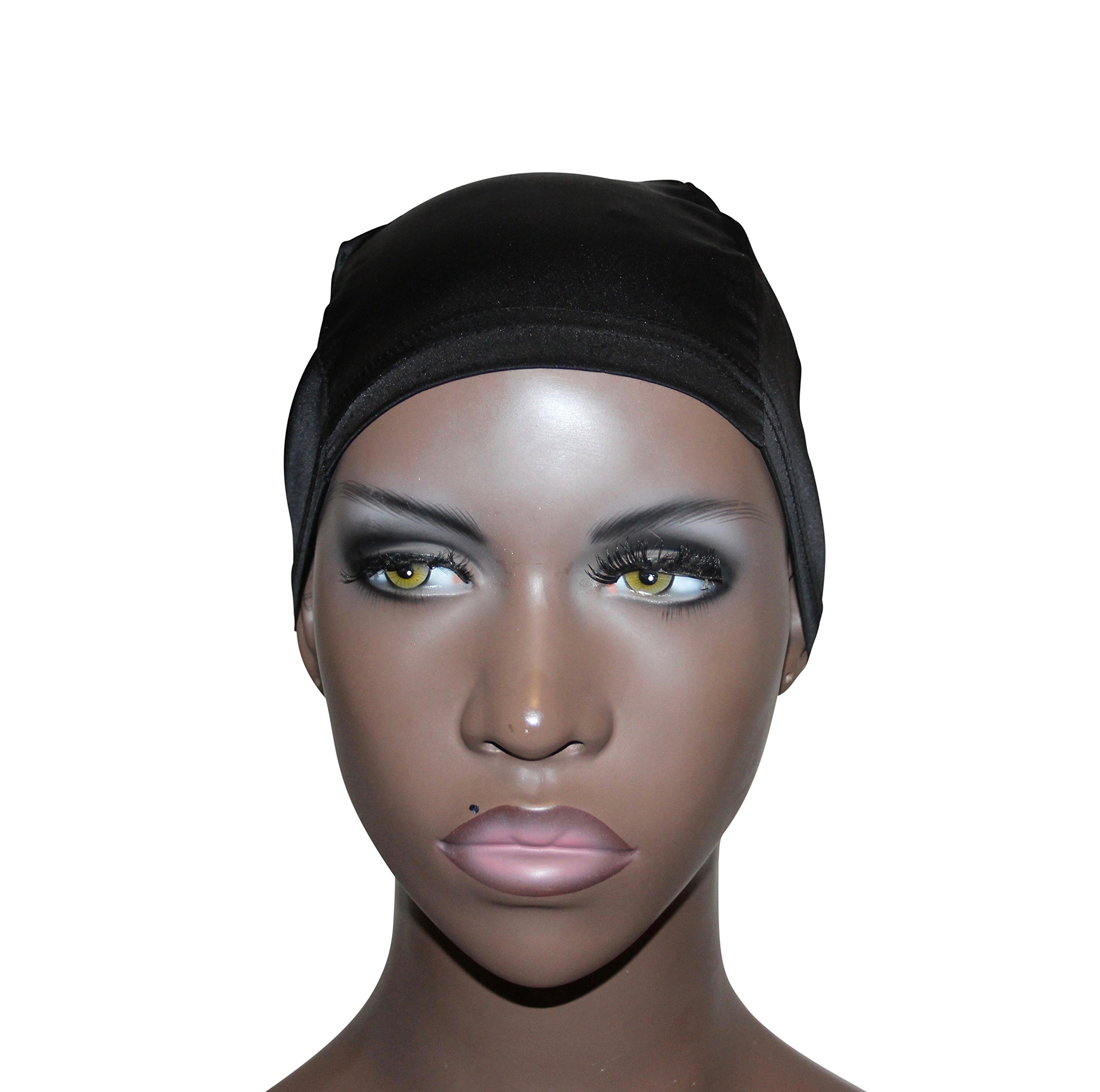 Smoothie Cap 100% Silk Wig Cap (Black)