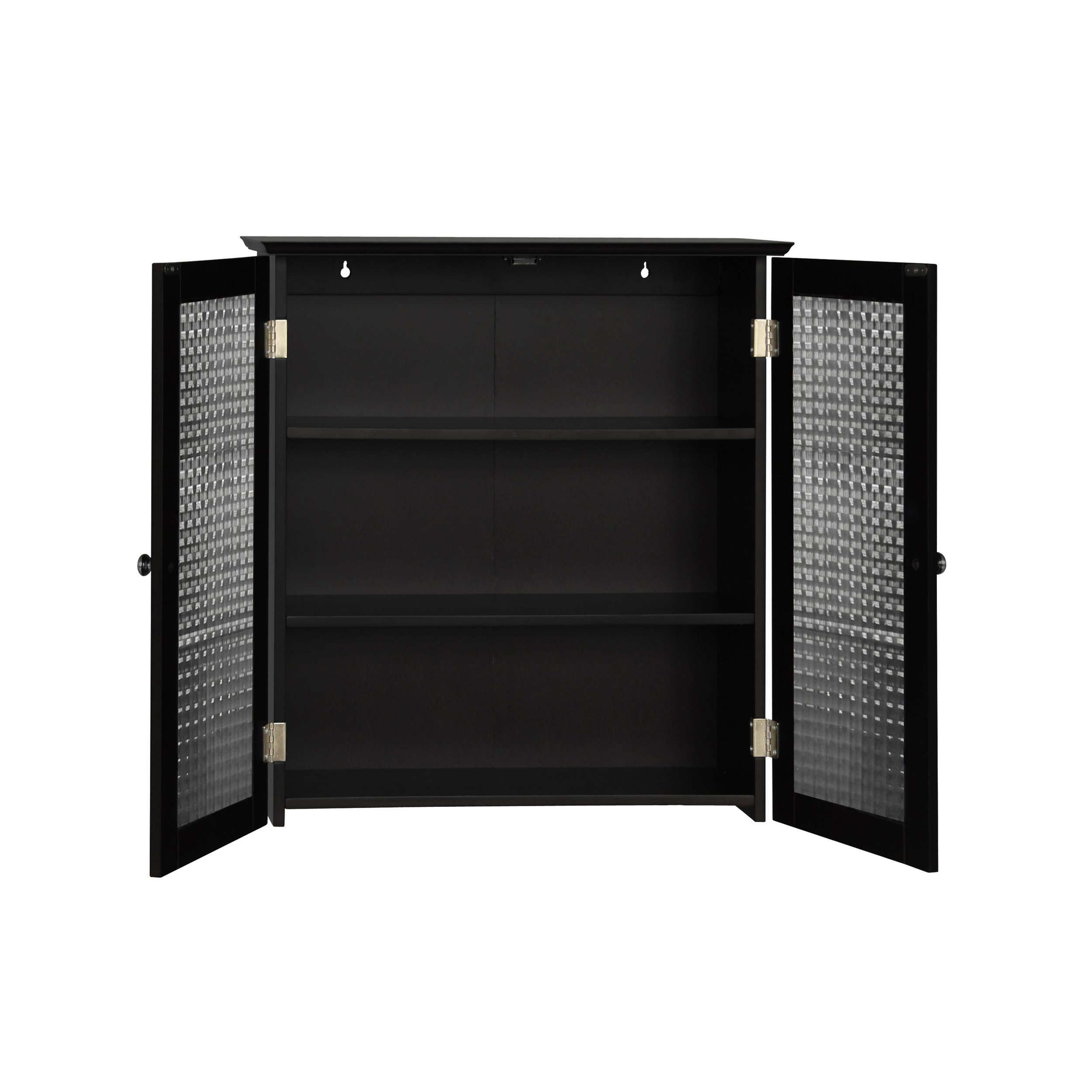 Elegant Home Fashions Chesterfield Wall Cabinet with Two Glass Doors by Elegant Home Fashions (Image #2)