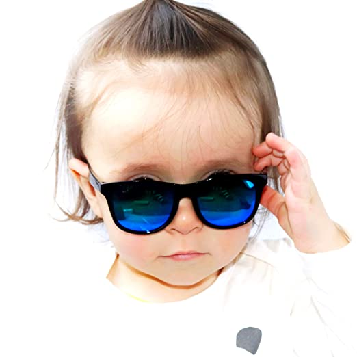 d0a6c73032 Kd3056 Style Vault Baby Toddlers 0~36 months old 80s Hipster Sunglasses  Black-Blue