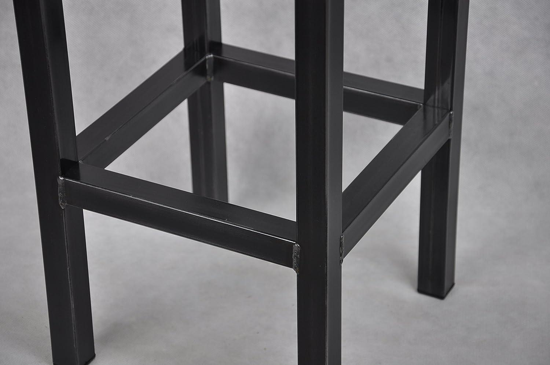 Magnetic Mobel® Barhocker Stahl Holz Massiv C Style Barstuhl Industrial  Design Metall Hocker H 78 ...