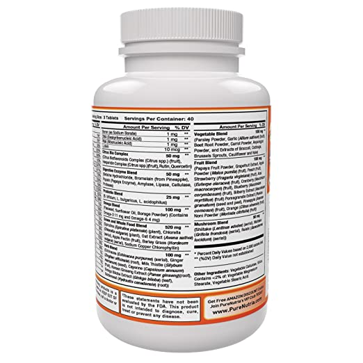 Whole Food MultiVitamin and Minerals with Probiotic Enzymes - 120 Multivitamins for Women and Men - Packed with WholeFood and Herbal Ingredients - ...