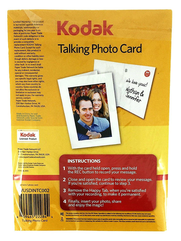 Amazon kodak 5x7 inch talking photo card office products kristyandbryce Gallery