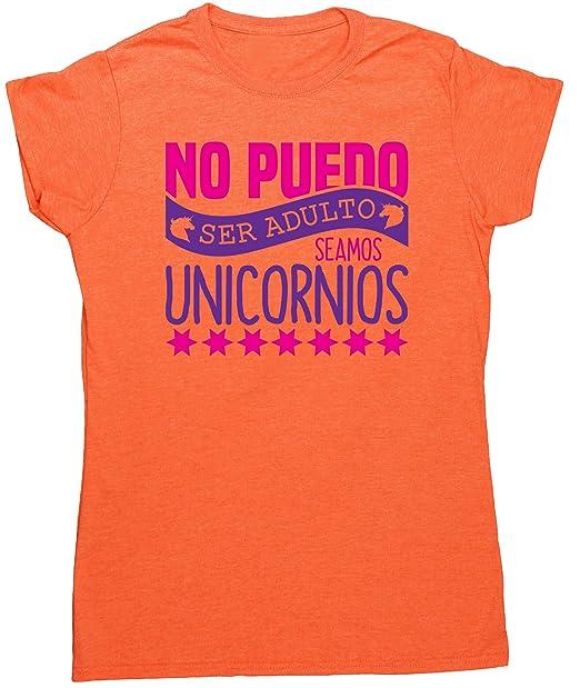HippoWarehouse no puedo ser adulto seamos unicornios camiseta manga corta ajustada para mujer: Amazon.es: Ropa y accesorios