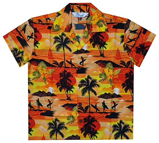 Kids 1950s Clothing & Costumes: Girls, Boys, Toddlers Alvish Hawaiian Shirts Boys allover Print Beach Aloha Party Camp Short Sleeve Holiday $14.99 AT vintagedancer.com