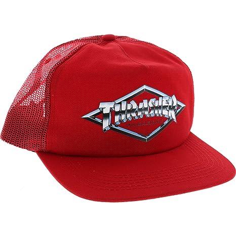 Amazon.com  Thrasher Magazine Diamond Emblem Red Snapback Hat - Adjustable   Sports   Outdoors b1ba8bf6ab2