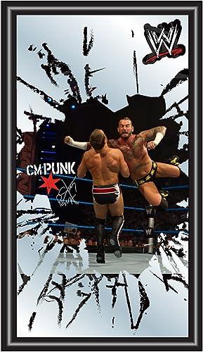 WWE CM Punk Framed Logo Mirror