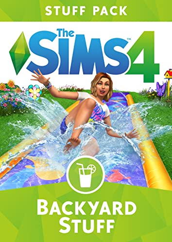 Create a casual backyard space for your Sims to kick back and cool off with The Sims 4 Backyard Stuff*.   Attempt crazy tricks on the lawn water slide or chill out with a glass of lemonade. Decorate the backyard with colorful new  obje...