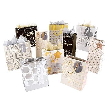 Hallmark - Bolsa de regalo y paquete de pañuelos - 4 bolsas ...