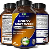 Horny Goat Weed Supplement for Women & Men - Natural Energy Booster Pills for Stamina and Performance - Pure Epimedium with Maca Root + Tongkat Ali + Panax Ginseng - 60 Capsules By Biogreen Labs