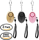 Scandic Gear Self Defence Personal Alarm Keychain - 3 Pack Safe Personal Alarm Women, Elderly, Kids, Night Workers