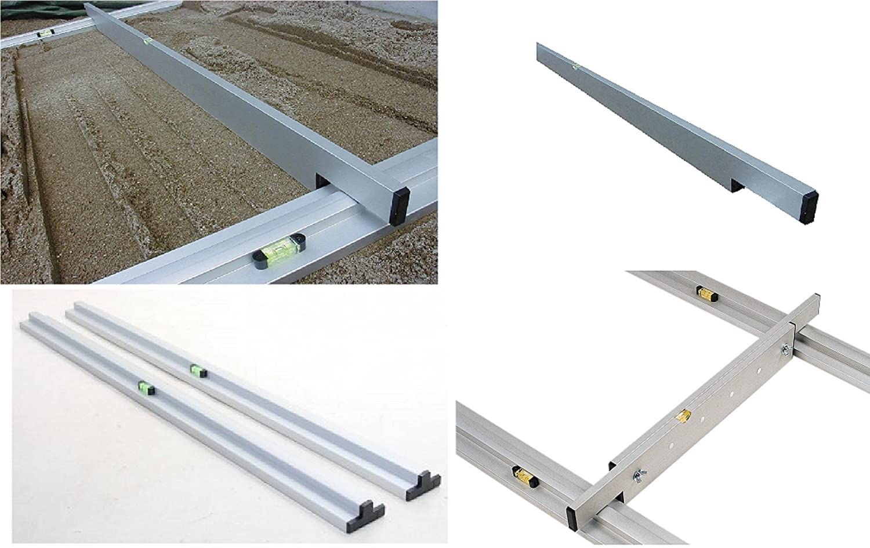 Abziehlehre f/ür Trockensch/üttung oder Ausgleichssch/üttung verstellbar von 1,5 m - 2,5 m