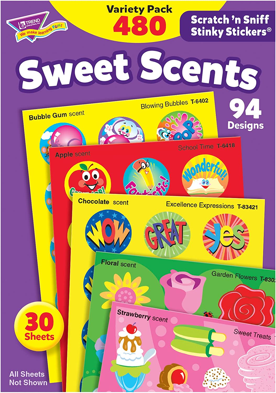 Trend Enterprises Sweet Scents Stinky Stickers Variety Pack