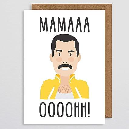 Image of Tarjeta del día de la madre - Amor - Divertido - Mamma - Tarjeta de felicitación - De la hija - Del hijo - Marido - Esposa - Comedia - Freddie Mercury - Queen - Mama Ooh