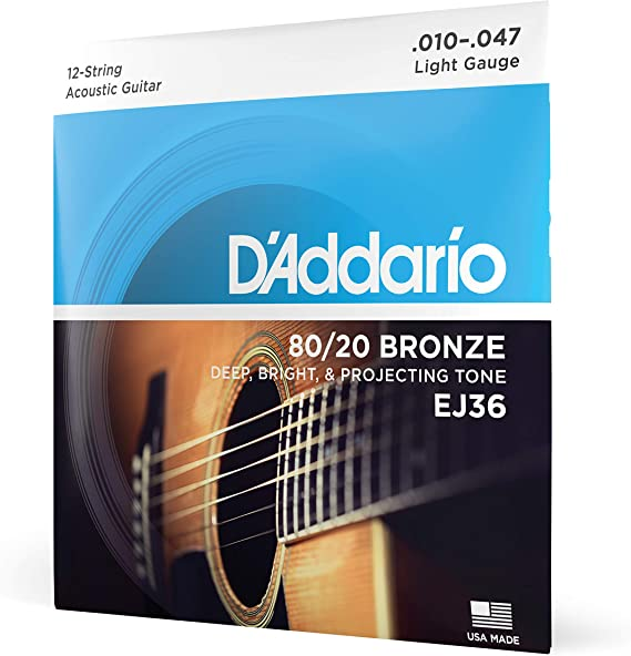 D'Addario EJ36 12-String Bronze Acoustic Guitar Strings