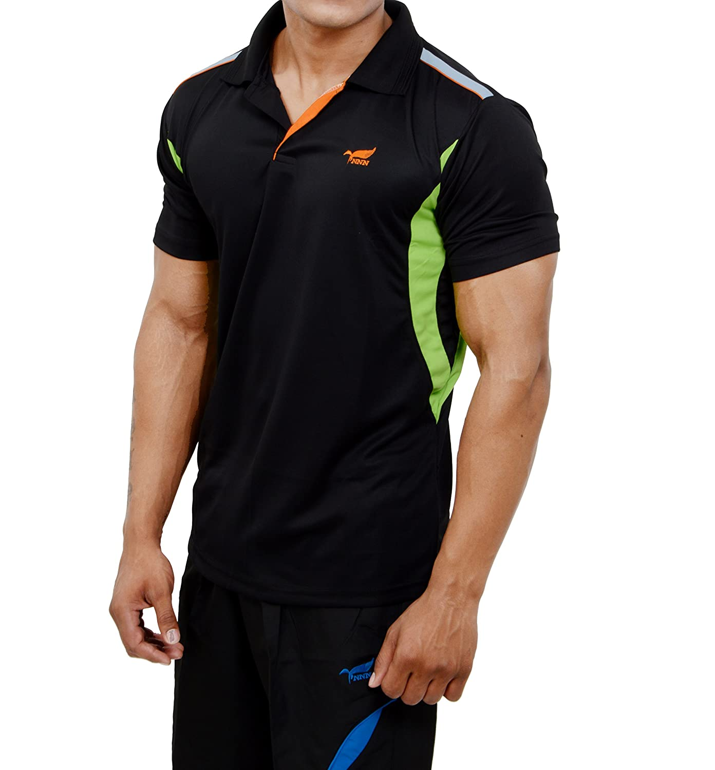 Black t shirt collar - Nnn Men S Polyester Dry Fit Sports T Shirt Amazon In Clothing Accessories